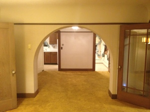 Looking into the dining room.