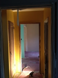 Looking into the spare bedroom