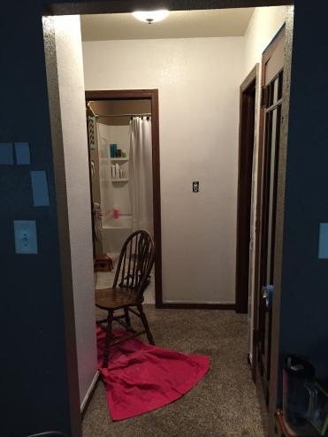 I should've probaby shut that bathroom curtain